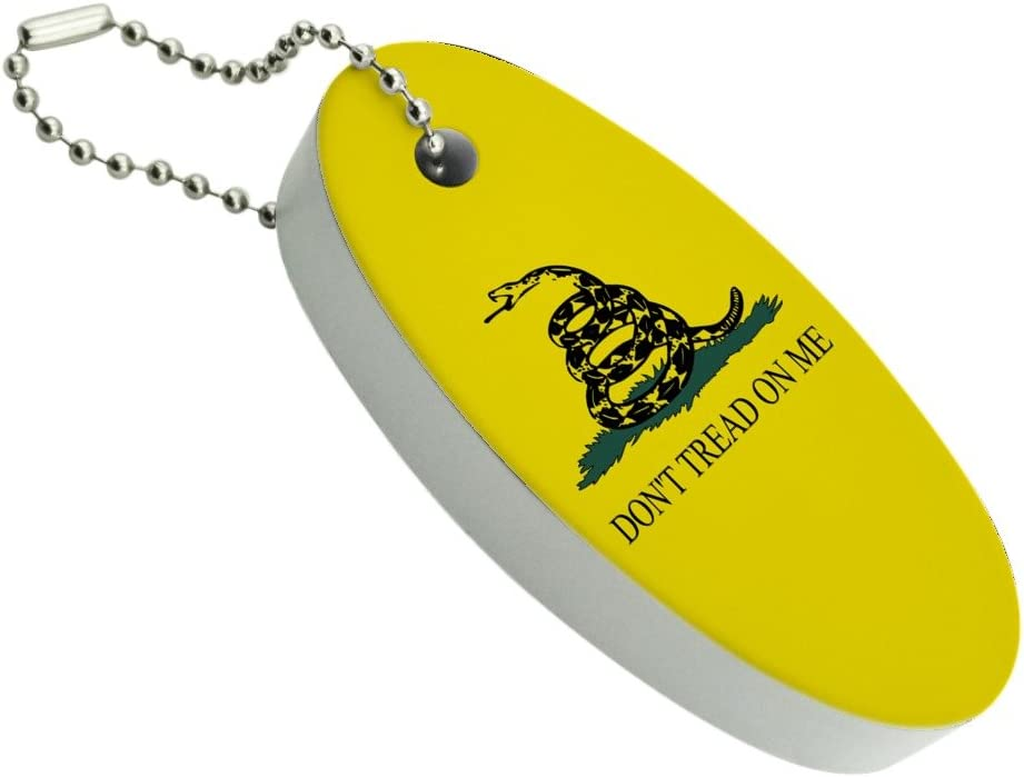 Graphics and More Gadsden Flag Dont Tread on Me Tea Party Floating Keychain Oval Foam Fishing Boat Buoy Key Float