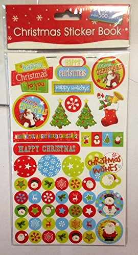 10 Sheets of 50 ( Total 500 ) Christmas Sticker Kids Childrens Labels for party Loot bags Filler Favours scrap books card making or notebook decoration Art Craft Concept4u 8798