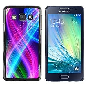 iKiki Tech / Estuche rígido - Abstract Color Spirals - Samsung Galaxy A3 SM-A300