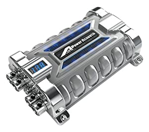 com power acoustik pcx f farad capacitor car electronics power acoustik pcx 30f 30 farad capacitor