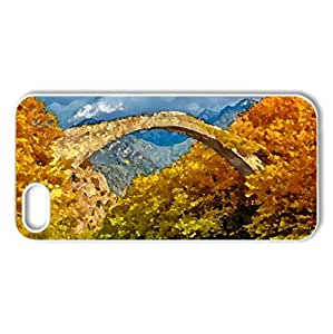 autumn - Case Cover for iPhone 5 and 5S (Rivers Series, Watercolor style, White)