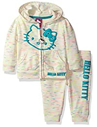 Hello Kitty girls 2 Piece Hooded Active Set With Yarn Dye Stripe