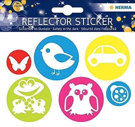 Herma - Pegatinas reflectantes, fijación permanente, 5 pegatinas ...