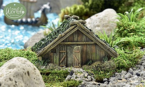 Miniature Fairy Garden Viking Village Wooden House
