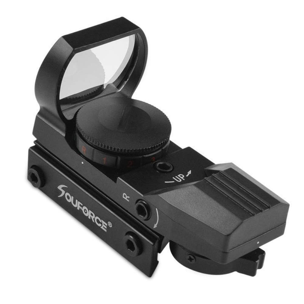 HERCHR Optical Sight Scope, For Gun Airsoft Pistol Red/Green Dot Holographic 1x22x33 CN, Black by HERCHR (Image #4)