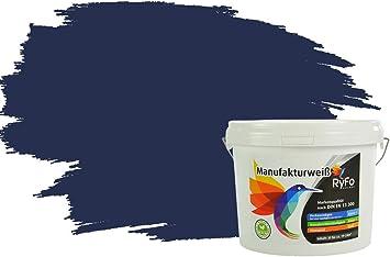Ryfo Colors Bunte Wandfarbe Manufakturweiß Nachtblau 3l Weitere Blau Farbtöne Und Größen Erhältlich Deckkraft Klasse 1 Nassabrieb Klasse 1 Baumarkt