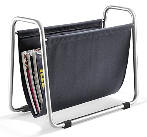 Zack 50033 Prano Magazine Rack, 13.8 by 17.1 by 9.7-Inch, Stainless Steel