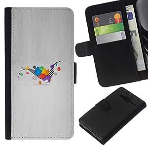 JackGot ( Dinosaurio Geometría ) Samsung Galaxy Core Prime la tarjeta de Crédito Slots PU Funda de cuero Monedero caso cubierta de piel