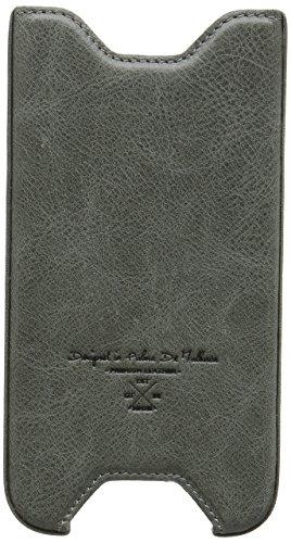 QIOTTI Q. Clip ceinture brut Étui en cuir véritable pour Samsung Galaxy S6–Gris