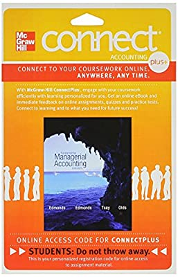 Connect 1-Semester Access Card for Fundamental Managerial Accounting Concepts