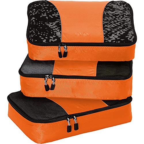 (eBags Medium Classic Packing Cubes for Travel - 3pc Set - (Tangerine))