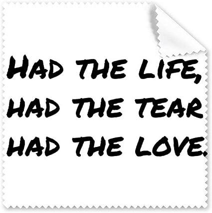Diythinker Poesie Citation Celebre Vie Tear Amour Tissu Lunettes