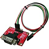 Ableconn PI232DB9M Compact GPIO TX/RX to DB9M RS232 Serial Expansion Board for Raspberry Pi