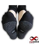 Non Slip Skid Socks, For Hospital Use, Traveling, Yoga Or Pilates Studio, Home Use, 2 Pairs Value Pack Set, by Yoga[Addict]™