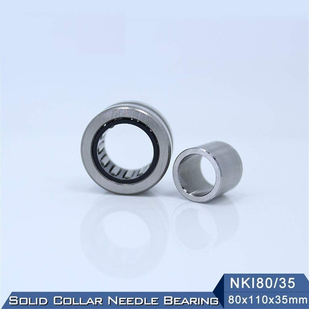 1 PC Solid Collar Needle Roller Bearings with Inner Ring NKI 80//35 Bearing JUN-STORE CMM-ZHOW NKI80//35 Needle Roller Bearing 80x110x35 mm