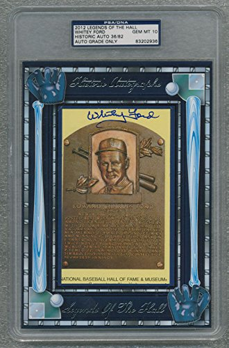WHITEY FORD SIGNED AUTO PSA DNA PEREZ-STEELE GEM MINT 10 IN DISPLAY BOX 83202936 ()