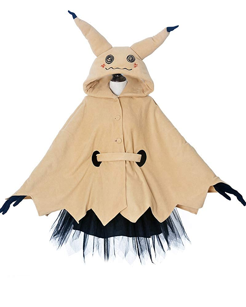 miccostumes Women's Mimikyu Cosplay Cloak with Skirt Belt Gloves