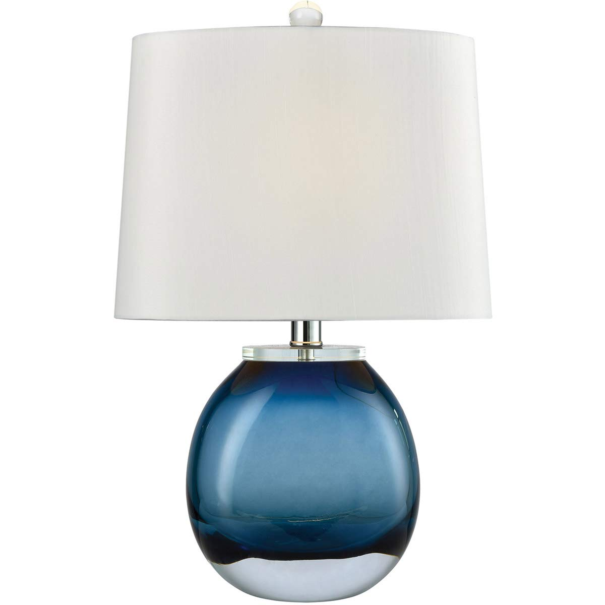 Table lamps 1 light fixtures with blue finish free blown glass material e26 19 60 watts amazon com