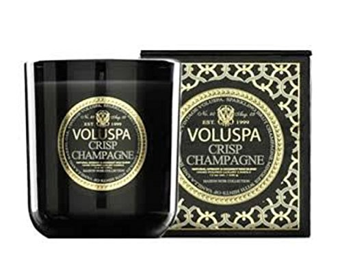 Voluspa Candles Maison Noir Collection Classic Jar Candle Crisp Champagne 12 (Classic Champagne Collection)