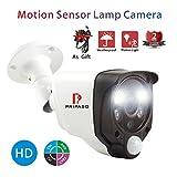 Home Security Wired Camera 2.0MP 1080P HD TVI/CVI/AHD CCTV Indoor/Outdoor Motion Sensor Camera with Pripaso Smart Alarm Camera Heat Based Motion Detect CCTV 100ft Night Vision Alarm Light Camera