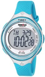 Timex Women's T5K602 Ironman Clear View 30-Lap Caribbean Blue Resin Watch