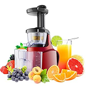 Slow Juicer Whole Fruit Juicers Red Smoothie Makers: Amazon.co.uk: Kitchen & Home