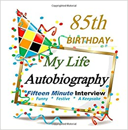 85th Birthday My Life Autobiography Party Favor Decorations In All Departments Supplies