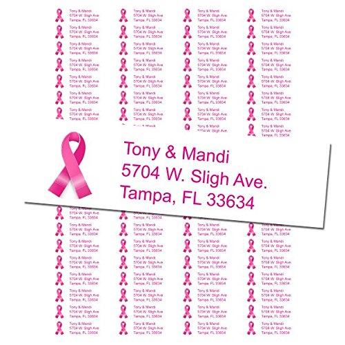 Breast Cancer Return Address Labels - 2 Sheets - 80 Labels Per Sheet]()