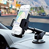 Car Phone Mount, Dashboard Car Phone Holder, Adjustable Long Arm Cell Phone Car Mount Compatible iPhone X 8 7 6 6S Se 5S Samsung Galaxy S9 S8 S7 S6 S5 HTC LG Sony Nexus Motorola Nokia More