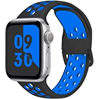 D'VOGUE Compatible for Apple Watch Band Soft Silicone Sport Band Replacement Wrist Strap Compatible for iWatch Series 6…