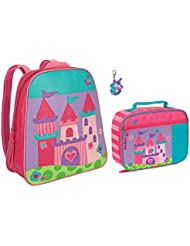 Stephen Joseph Girls Princess Castle Backpack and Lunch Box with Zipper Pull