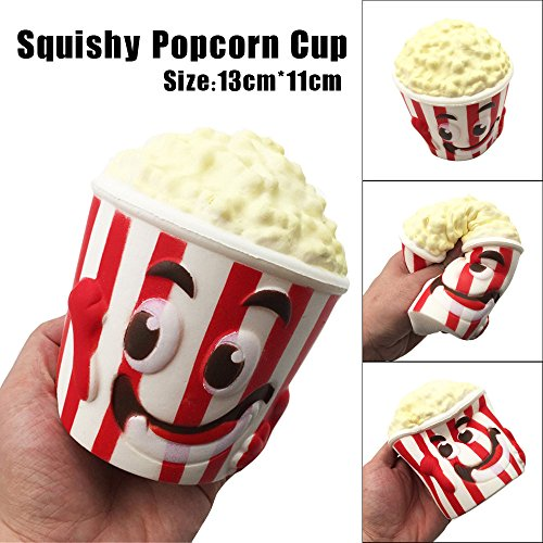 Kanzd Squishy Popcorn Cup Soft Focus Squeeze Kids Fun Decompression Toys (A) for $<!--$9.99-->