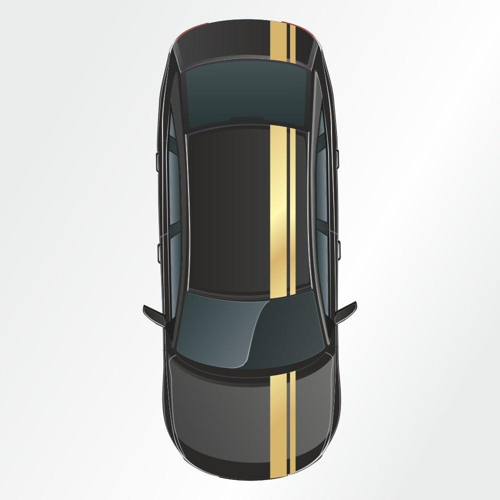23 X 400 Cm Rennstreifen Aufkleber Viperstreifen Rallystreifen Auto