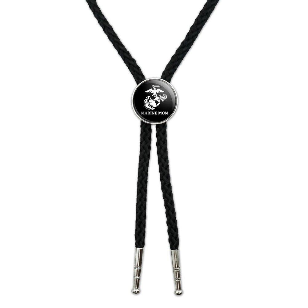 United States Marine Corps USMC White Blue Logo Officially Licensed Western Southwest Cowboy Necktie Bow Bolo Tie