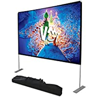 VMI Portable Projector Screen with Stand and Carry Bag 100 inch 16:9 HD 4K Projections Movies Screen for Indoor Outdoor Home Theater Camping Cinema Travel Meeting