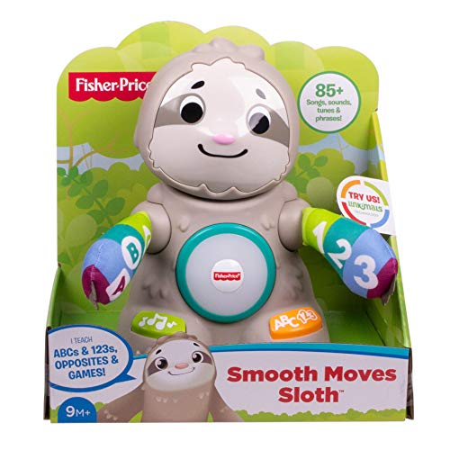 51uSDj613aL - Fisher-Price Linkimals Smooth Moves Sloth - Interactive Educational Toy with Music, Lights, and Motion for Baby Ages 9 Months & Up