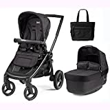 Peg Perego Team Stroller - Onyx with BONUS Diaper Bag