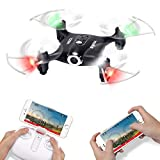 Syma X21W Wifi FPV Mini Drone With Camera Live Video LED Nano Pocket RC Quadcopter With GYRO App Control Black