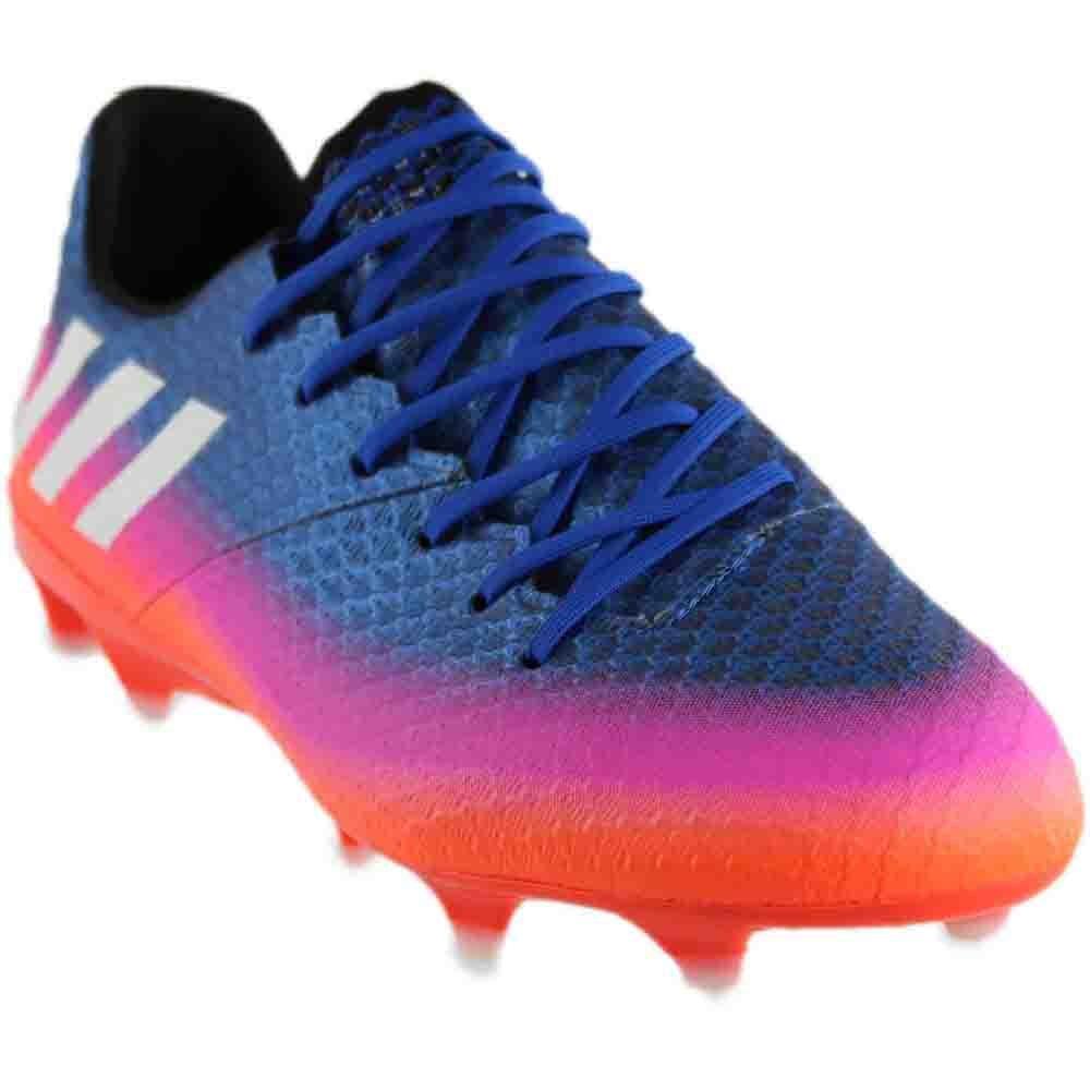 adidas messi fg blu / bianco / arancio, scarpette da calcio (bb1879