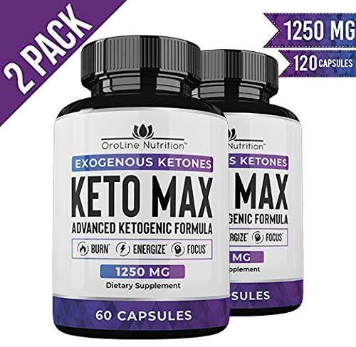 Keto Pills - (2 Pack | 120 Capsules) Advanced Keto Burn Diet Pills with MCT Oil Powder - Best Exogenous Ketones BHB Supplement