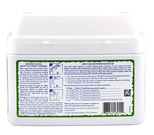Vermont Organics Milk-Based Organic Infant Formula with Iron, 23.2 oz.  (Pack of 4) by Vermont Organics (Image #6)