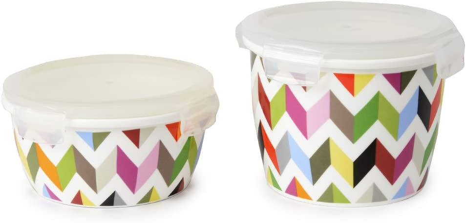 French Bull 21 Oz Porcelain Food Storage Container Lunch Airtight Lid Ziggy Amazon Co Uk Kitchen Home