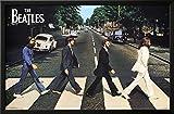beatles art framed - The Beatles Abbey Road Lamina Framed Poster - 35.75 x 23.75in.