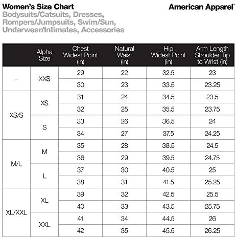 American Apparel Women's Cotton Spandex Short Sleeve Double U Bodysuit Size S Black