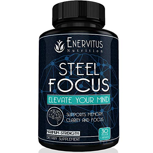 Super Strength Natural Brain Booster Nootropic Supplement with Free Bonus to Support Focus, Energy, Memory & Mental Clarity - High Quality Ingredients, St. John's Wort, Ginkgo Biloba & More. -