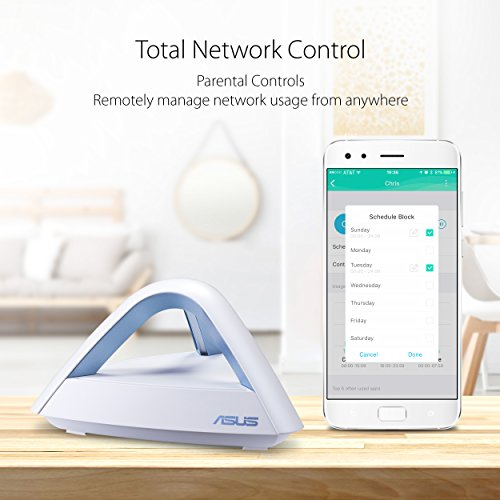 51uSF64QTJL - ASUS Lyra Trio (1 Pack) Home Mesh WiFi System - Compatible with Amazon Alexa, Dual-Band Wireless AC1750 Mesh Network Routers with Parental Control, Free Lifetime Internet Security by Trend Micro