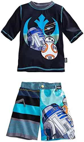 502958e516fe6 Disney Store Star Wars Boy Rash Guard & Swim Trunks Shorts Set Size 5/6
