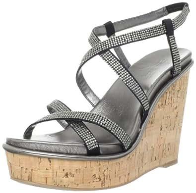 Amazon.com | Nine West Women's Relish Wedge Sandal, Black