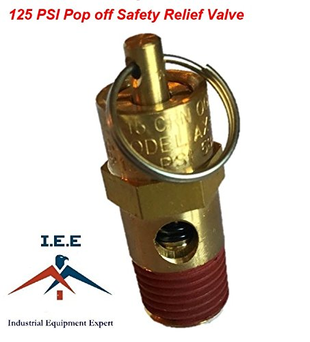 1/4' NPT 125 PSI Air Compressor Safety Relief Pressure Valve Tank Pop Off New
