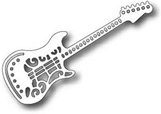 AJDMART Guitarra Eléctrica Metal Troquelado F ̈1r Scrapbooking ...